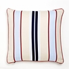 Khaki Preppy Stripe Decorative Pillow