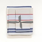 Khaki Preppy Stripe Twin Sheet Set