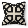 Khwai Applique Black Throw Pillow
