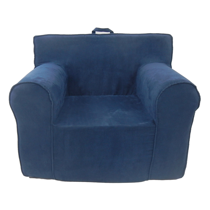 The ultimate kids chair in navy blue microsuede rosenberryrooms com