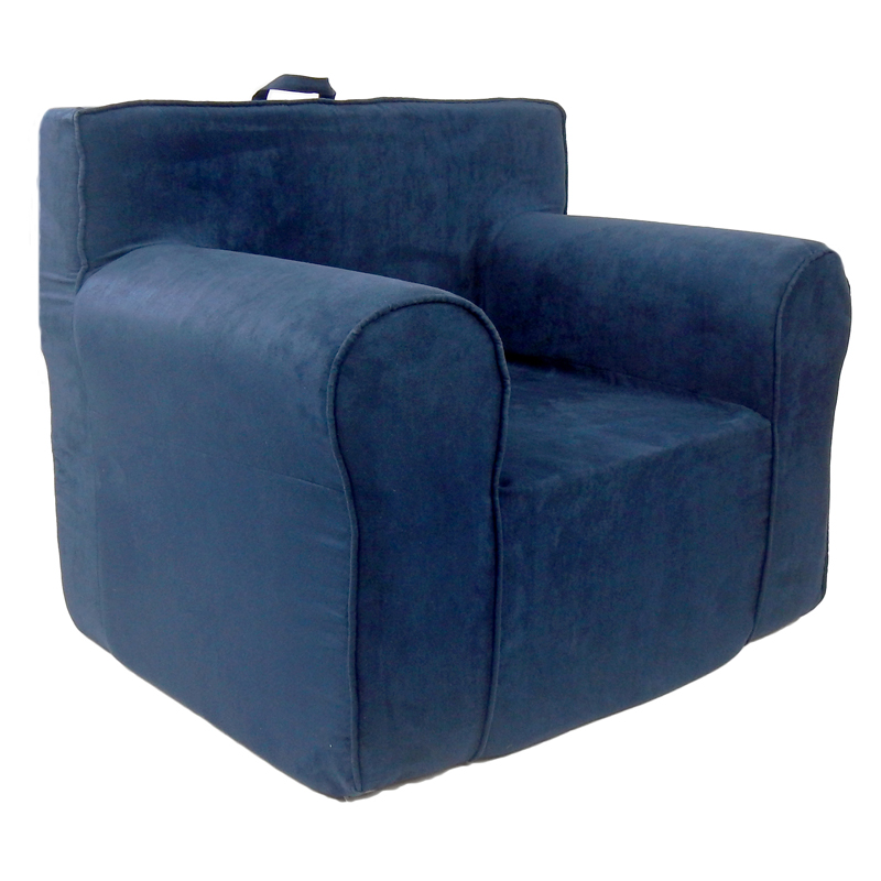 The Ultimate Kids Chair in Navy Blue Microsuede