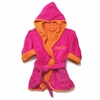 Kids Hooded Terry Cover-Up in Hot Pink and Orange