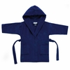Kids Hooded Velour Cover-Up in Navy