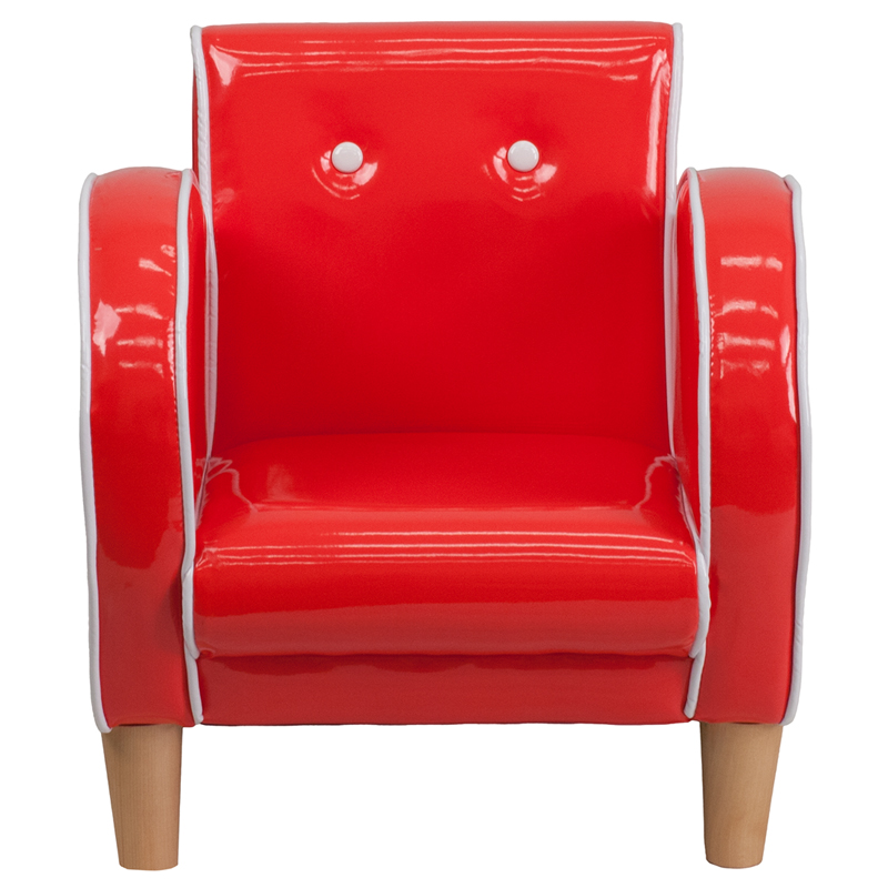 kids retro red chair