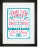 Kids Should be Kids Pink Framed Art Print