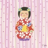 Kimono Girl - Short Bob Canvas Wall Art