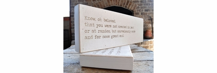 Kiss Your Life Love Letter Engraved Sign