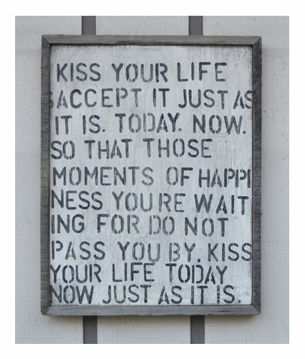 Kiss Your Life Vintage Framed Art Print