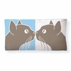 Kissing Cats Reversible Throw Pillow
