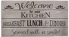 Kitchen Quote Vintage Slat Wall Sign