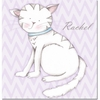 Kitty Kitty in Lavender Canvas Reproduction