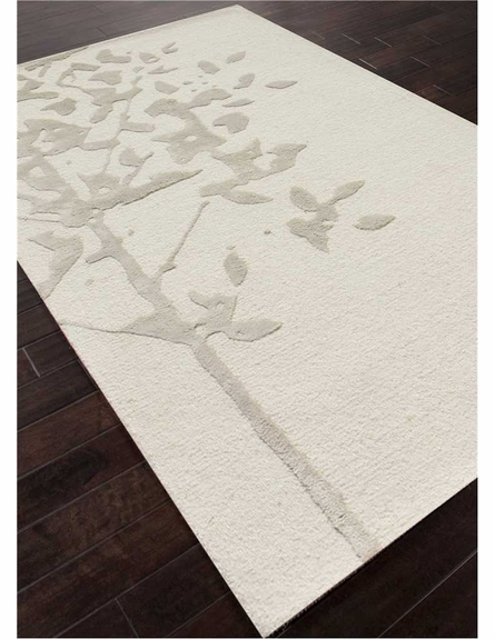 Knock Wood Rug in White