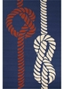 Knotty Rug in Navy
