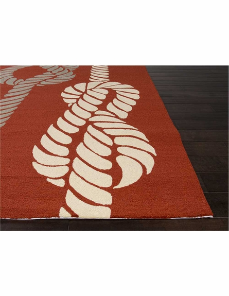 Knotty Rug in Red
