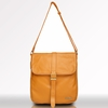 Kobe Leather Messenger Bag in Butterscotch