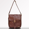 Kobe Leather Messenger Bag in Chestnut