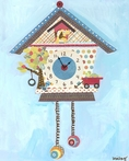 Koo Koo Puppy Canvas Clock