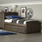 Kyle Storage Headboard Bed with Panel Footboard