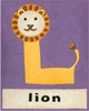 L is for Lion Canvas Purple Reproduction