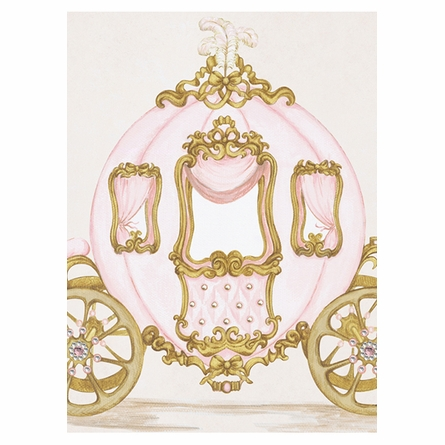 La Belle Caleche I Canvas Reproduction - Classique Pink