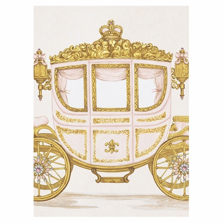 La Belle Caleche II Canvas Reproduction - Classique Pink