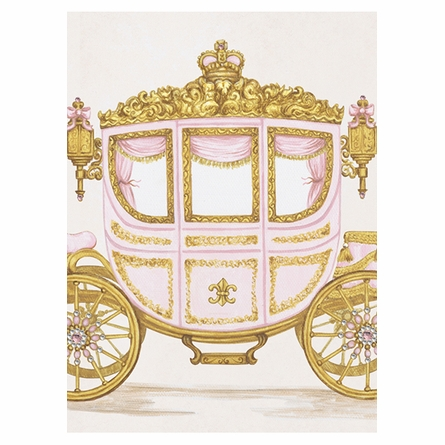 La Belle Caleche II Canvas Reproduction - Contemporaine Blush