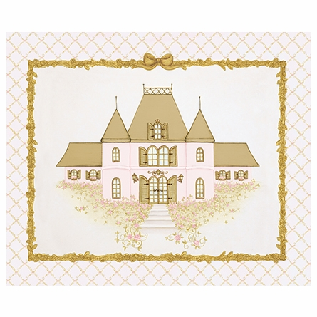 La Belle Chateau Canvas Reproduction - Classique Pink