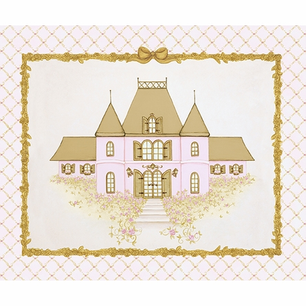La Belle Chateau Canvas Reproduction - Contemporaine Blush