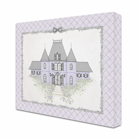 La Belle Chateau Canvas Reproduction - Luxe Lavande