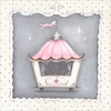 La Belle Cirque Coach Cupcake Canvas Wall Art
