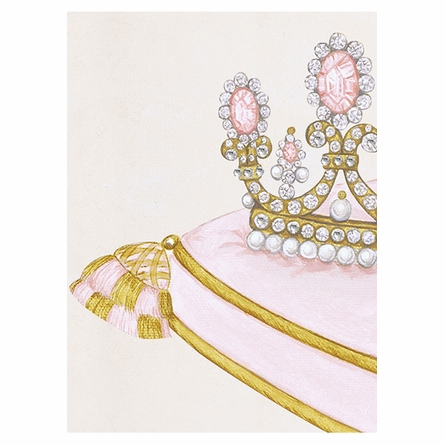 La Belle Couronne I Canvas Reproduction - Classique Pink