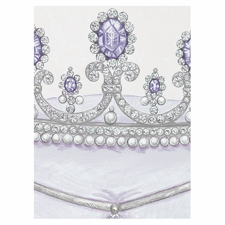 La Belle Couronne I Canvas Reproduction - Luxe Lavande