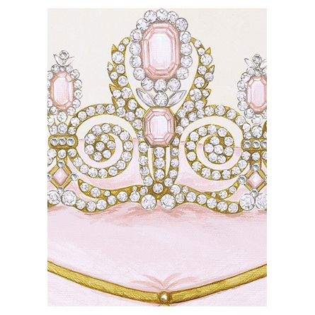 La Belle Couronne II Canvas Reproduction - Classique Pink