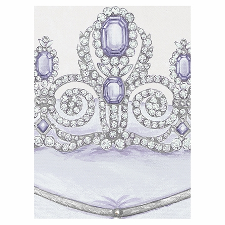 La Belle Couronne II Canvas Reproduction - Luxe Lavande
