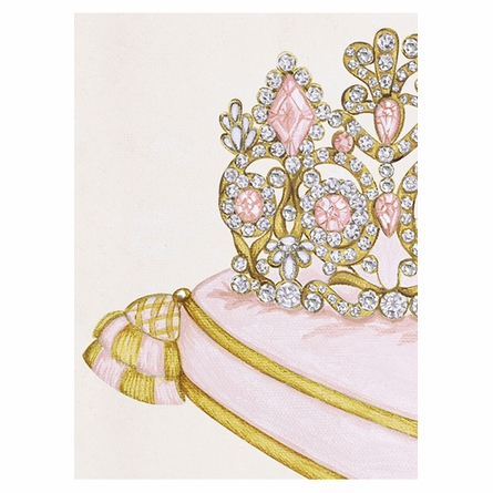 La Belle Couronne III Canvas Reproduction - Classique Pink
