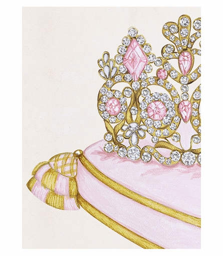 La Belle Couronne III Canvas Reproduction - Contemporaine Blush