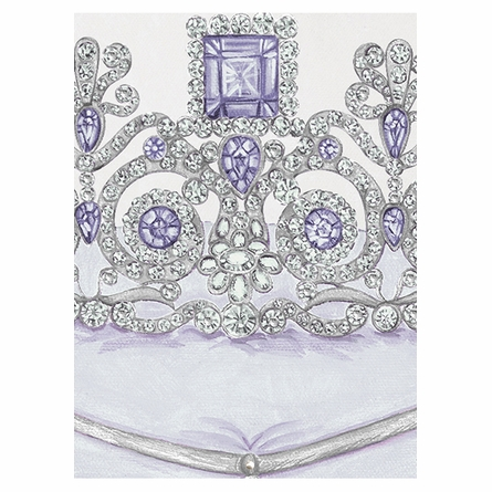La Belle Couronne III Canvas Reproduction - Luxe Lavande