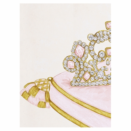 La Belle Couronne IV Canvas Reproduction - Classique Pink