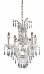 La Fontaine Five Arm Chandelier in Sunset Silver