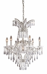 La Fontaine Seven Arm Chandelier in Sunset Silver