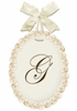 La Petite Fleur Personalized Wooden Wall Plaque - Ivory Bisque