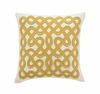 Labyrinth Square Throw Pillow in Citrine