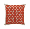 Labyrinth Square Throw Pillow in Persimmon