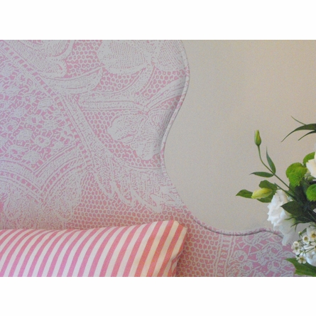 Lace On Pink Headboard Wall Decal for Twin Bed