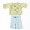 Lace Sweater & Shorts Organic Hand-Knit Doll Clothes
