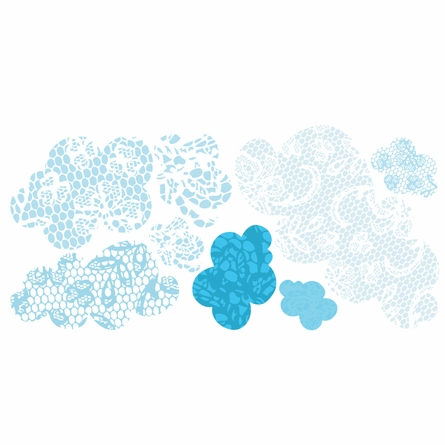 Lacey Clouds Wall Decals
