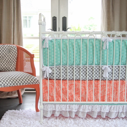 Lacey Dot Crib Sheet