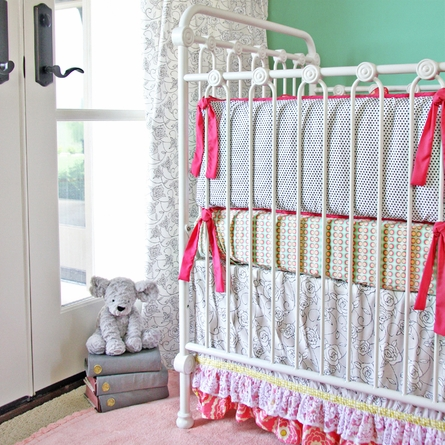 Lacey Rose Crib Sheet