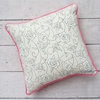 Lacey Rose Square Throw Pillow