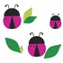 Lady Bug Chalk Peel & Stick Wall Decals